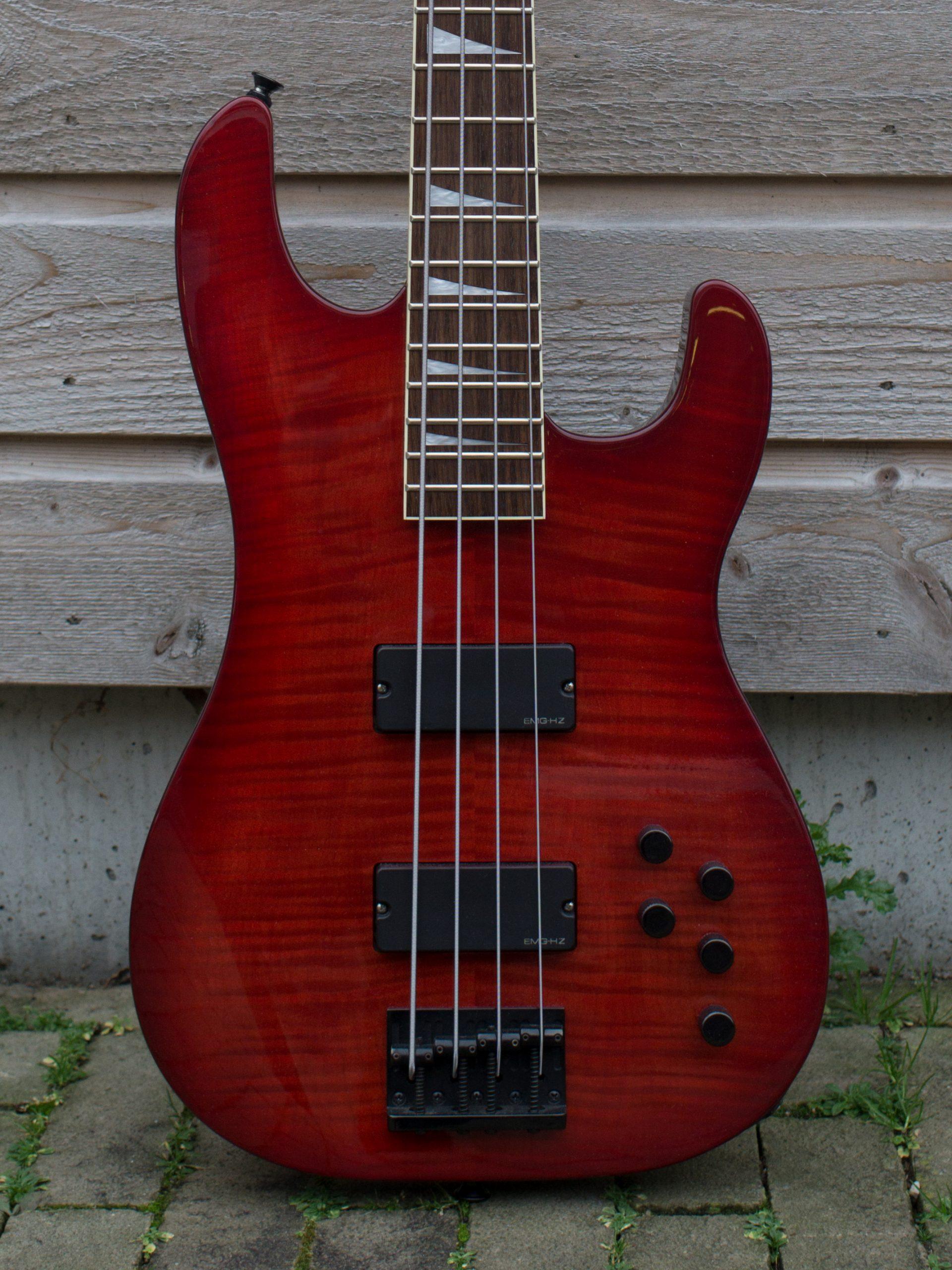 Jackson Concert Bass  2002 Crimson Red Transparent