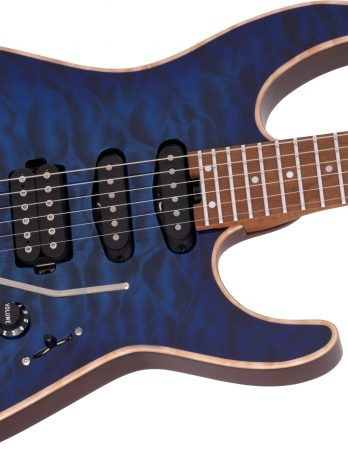 Charvel USA Select DK24 HSS 2PT CM QM – Blue Burst – Pre Order – JAN-2022