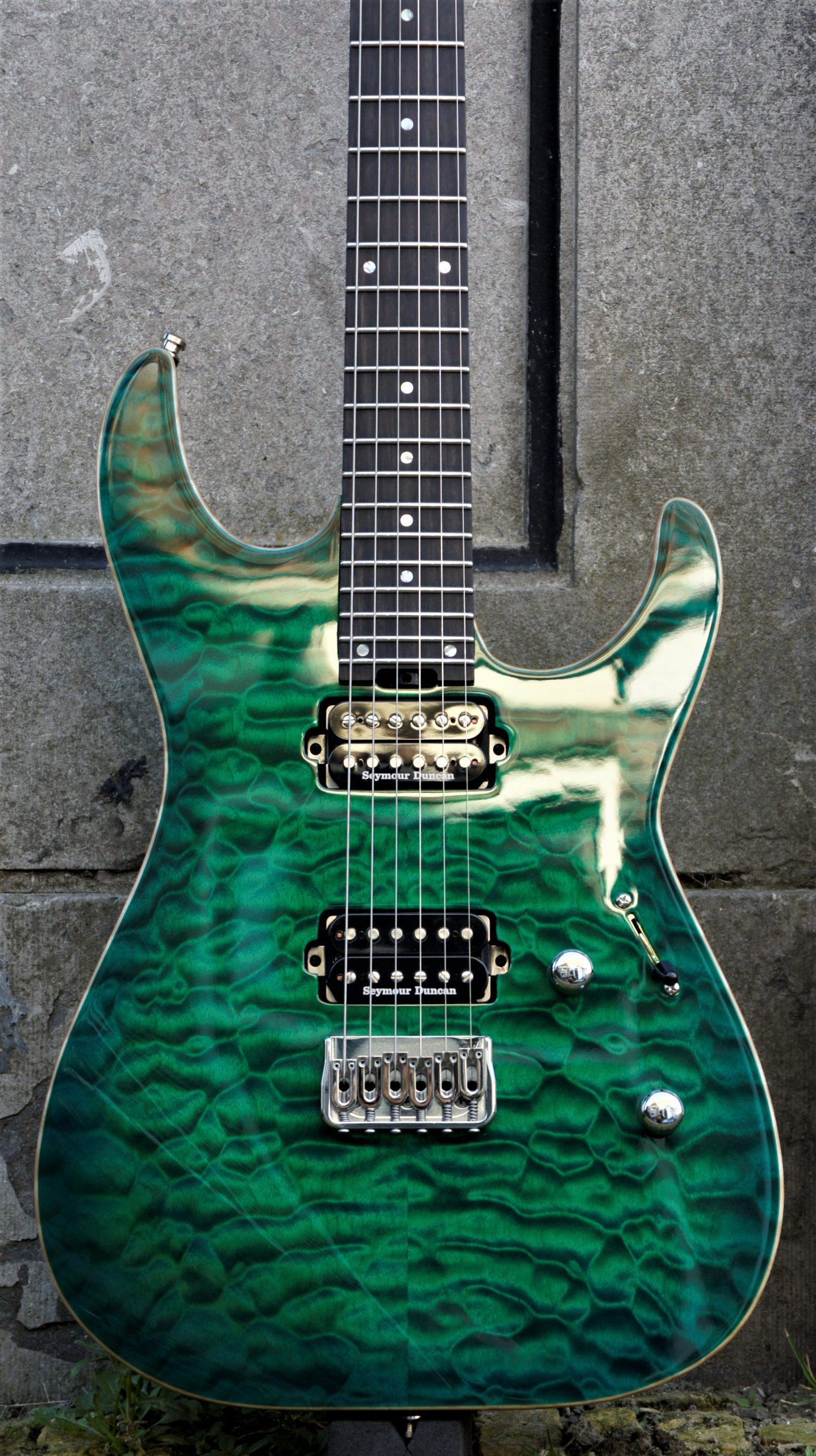 ESP USA M2 HT Quilted Maple - EGSB - Emerald Green Sunburst