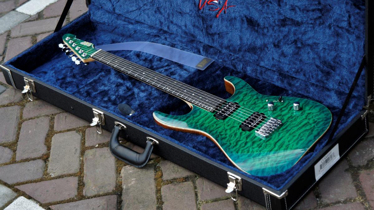 ESP USA M2 HT Quilted Maple – EGSB – Emerald Green Sunburst