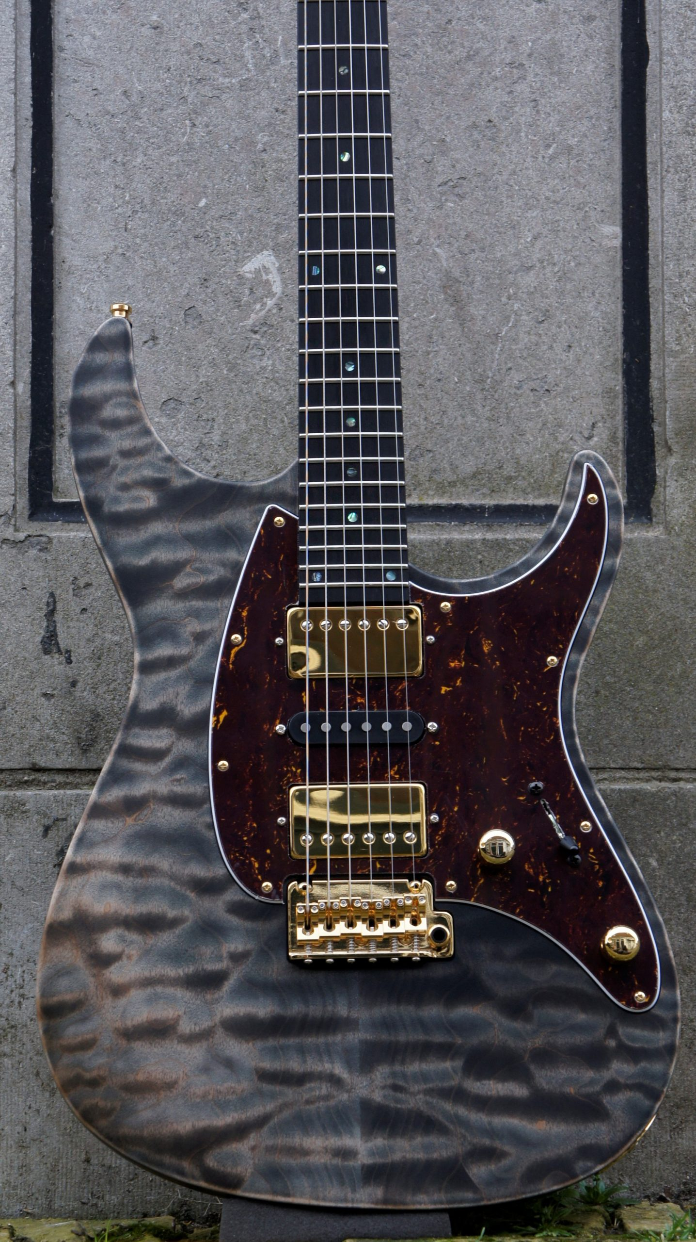 Mayones Aquila QM 6 Custom - Antique Black Matte