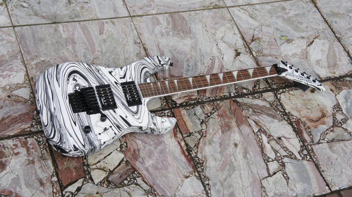Jackson X Series SLX DX Swirl Soloist – Satin White Swirl
