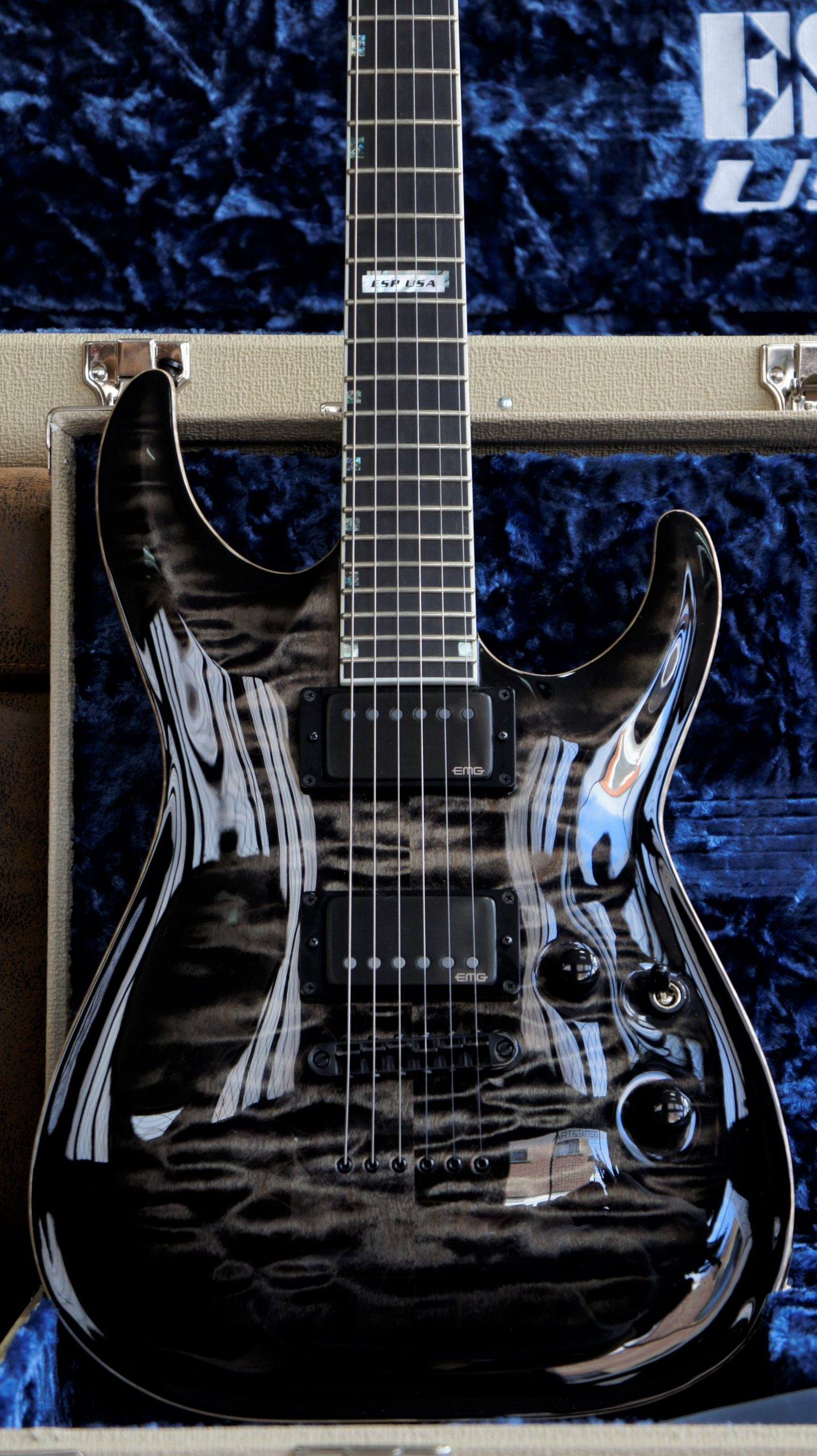 ESP USA Horizon II STBLKSB - See-Thru Black Sunburst