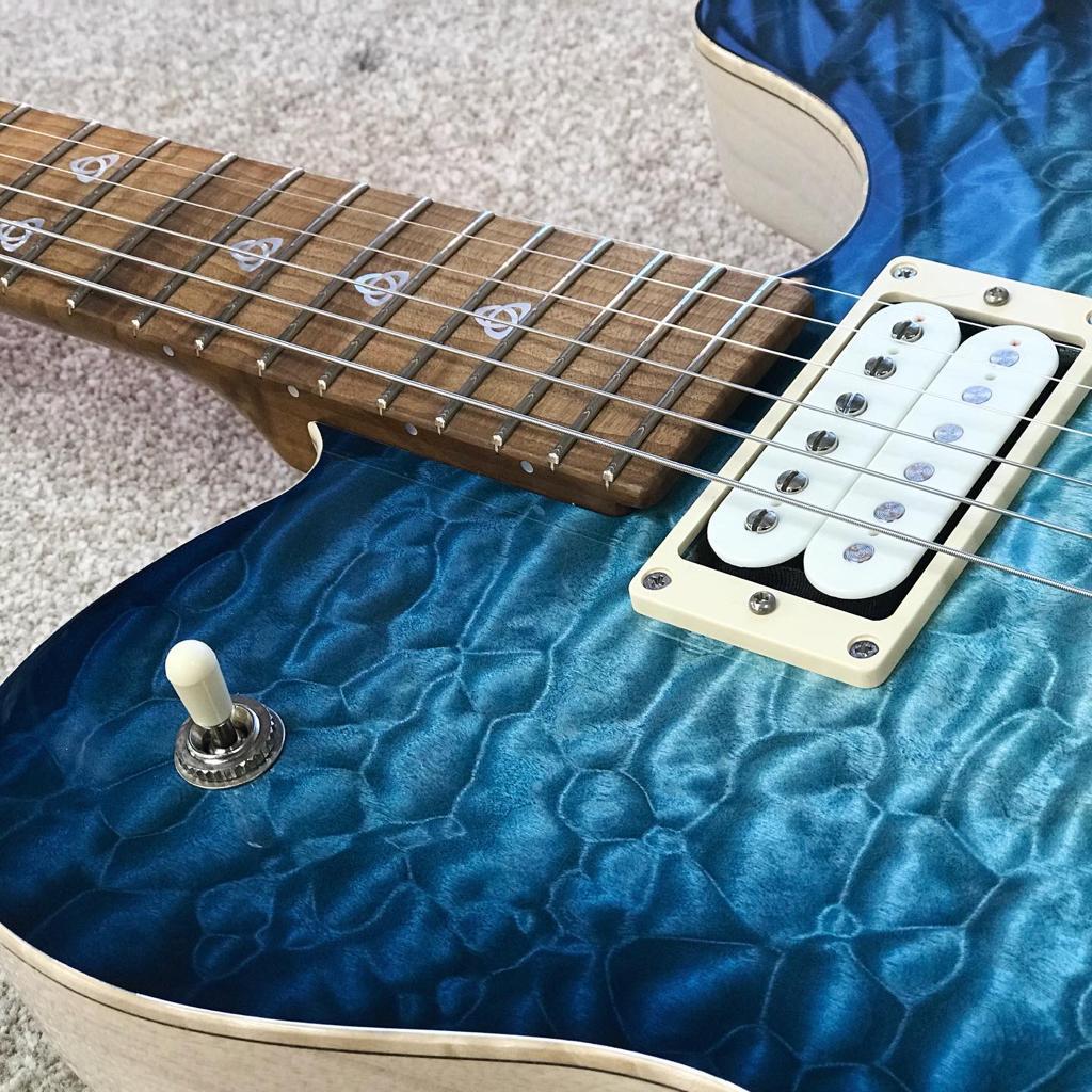 Patrick James Eggle Oz-T Drop-top – Bright Blue Burst – Pre-order