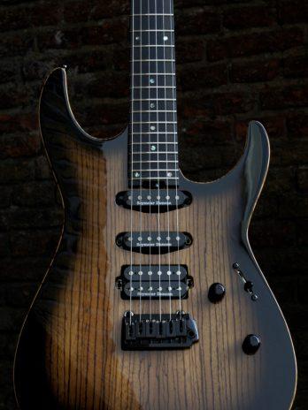ESP USA M-III 2 PT – Zebrawood – See Thru Black Sunburst