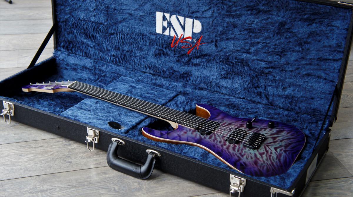 ESP USA M-7 Hardtail QM – Purple Haze