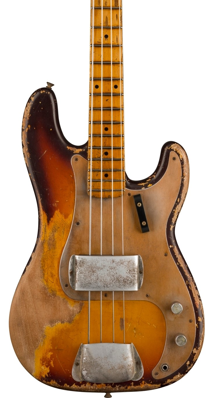 Fender Custom 1958 P Bass® Heavy Relic® - Masterbuilt by Vincent van Trigt - Faded Chocolate 3-Color