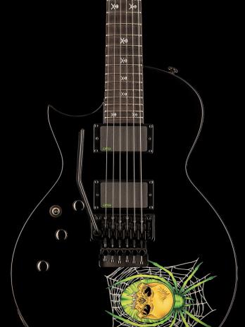 ESP LTD KH-3 Spider – Black with Spider Graphic – Lefty / Left Handed – Reservation !