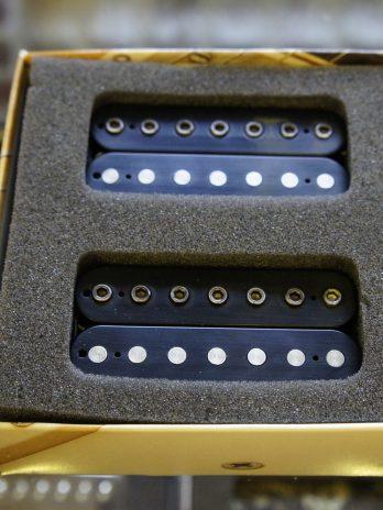 Bare Knuckle VHII 7 Custom set – Black Matte / Aged Nickel Bolts