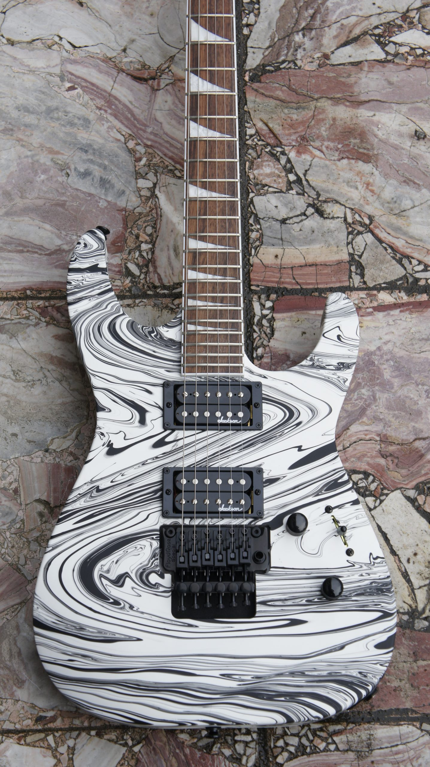 Jackson X Series SLX DX Swirl Soloist - Satin White Swirl