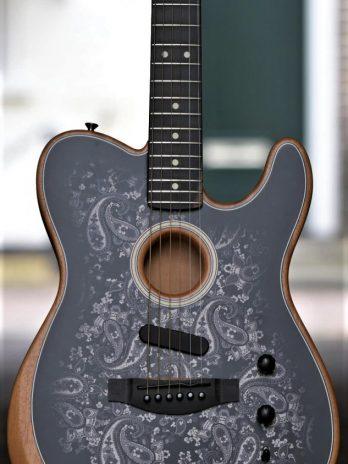 Fender Acoustasonic Telecaster – Black Paisley ltd. Edition