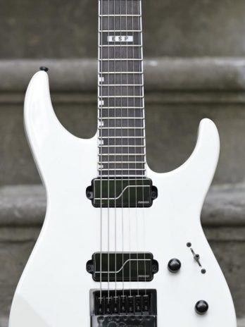 ESP E-II M-II 7B Baritone Evertune – Pearl White