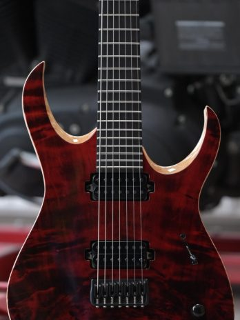 Mayones Duvell Elite 7 – Transparent Dirty Red Gloss